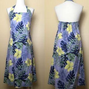 Tommy Bahama Tropical Floral Silk Halter Dress 10